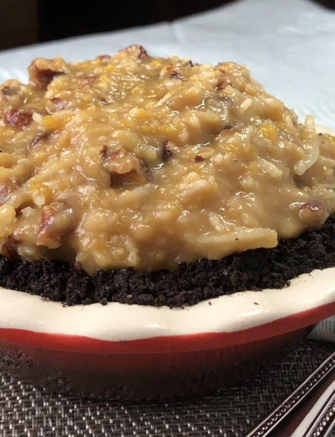 Mini German Chocolate Pie