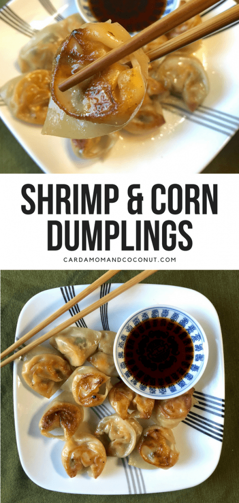 Shrimp & Corn Dumplings - Cardamom & Coconut
