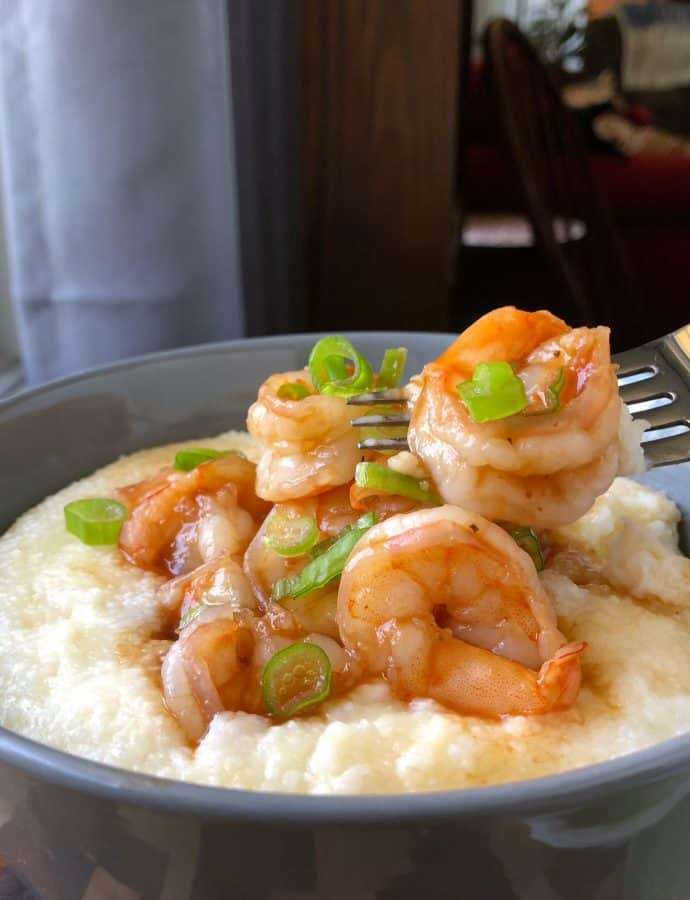 Barbecue Shrimp with Smoked Gouda Grits