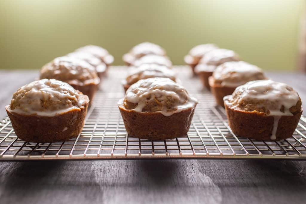 zucchini muffins with lemon glaze