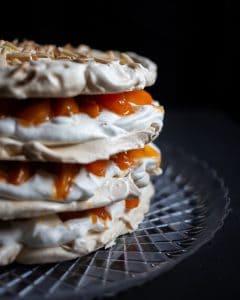 Apricot-Almond Meringue Cake