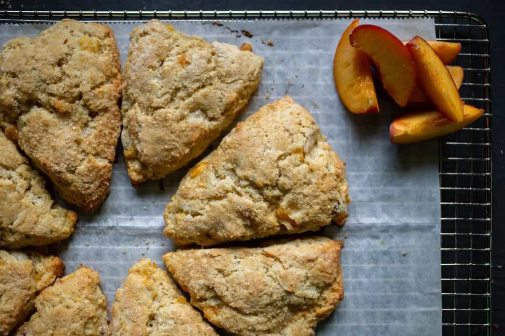 Ginger Peach Scones