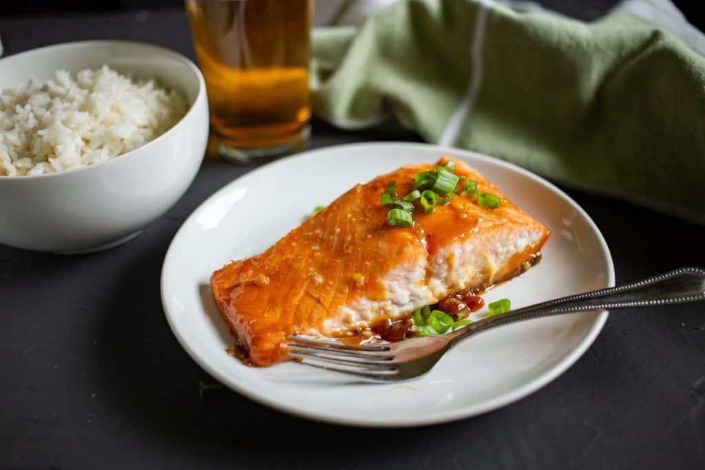 Miso Salmon with Coconut Rice
