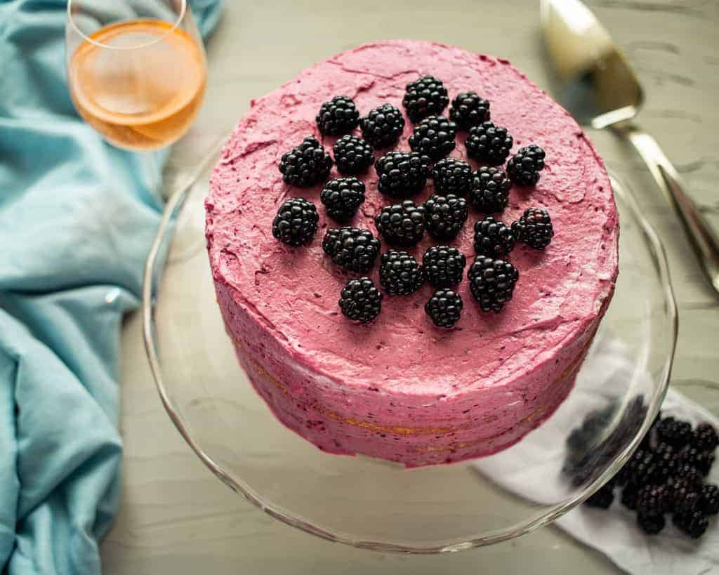 Blackberry-Mascarpone Lemon Cake