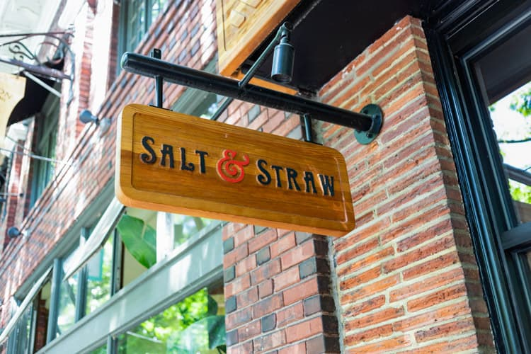 Sign for Salt & Straw