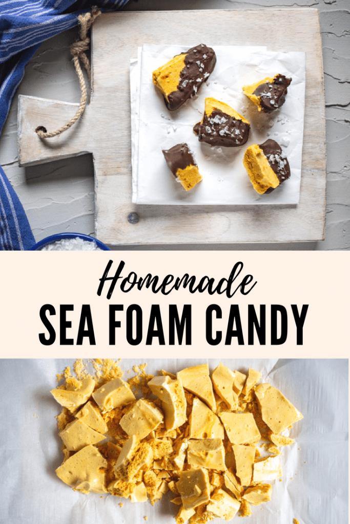 Homemade honeycomb candy pinterest image