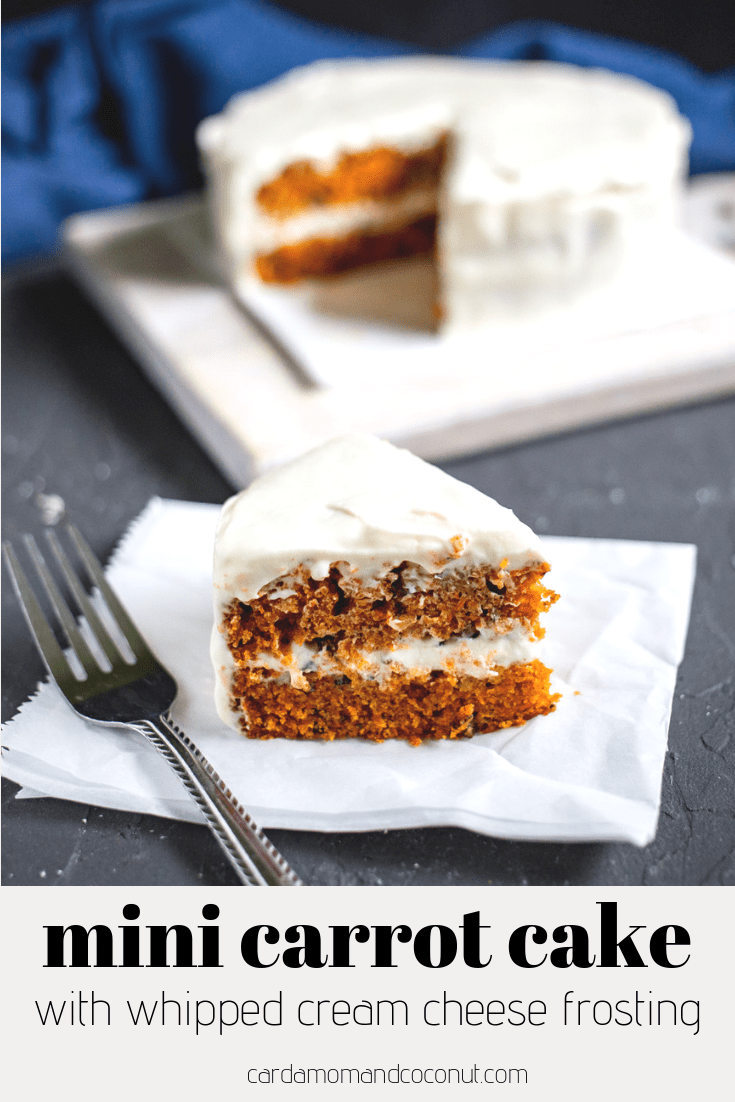 Mini Carrot Cake with Whipped Cream Cheese Frosting
