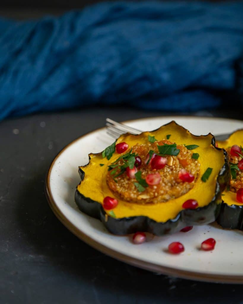 Quinoa Stuffed Acorn Squash Rings