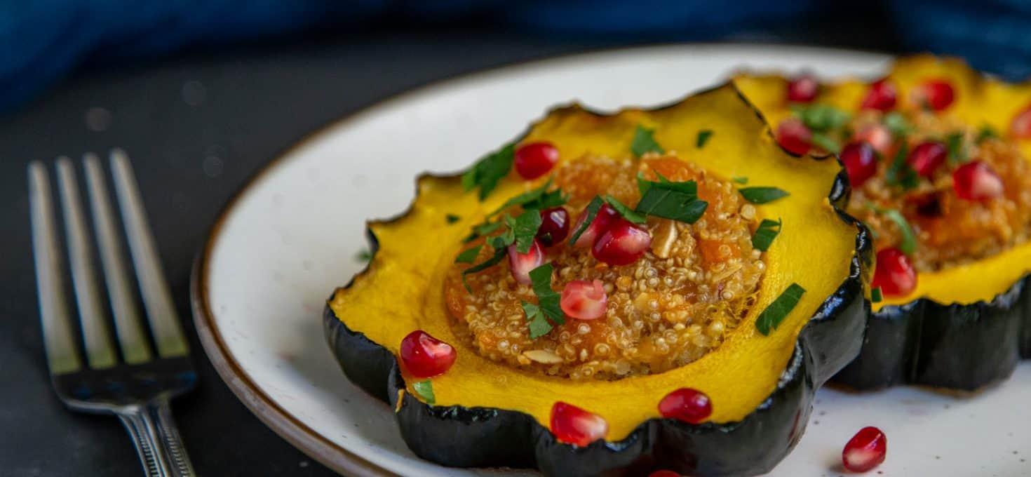 Quinoa Stuffed Acorn Squash Rings