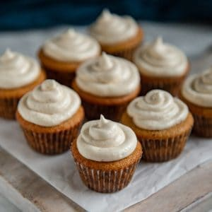 Mini Spice Cupcakes with Cream Cheese Frosting
