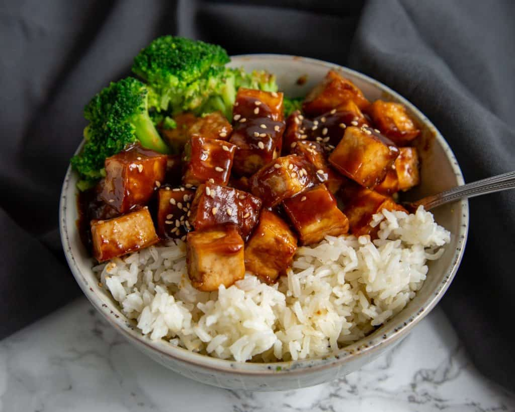 Tofu with Peanut Sauce