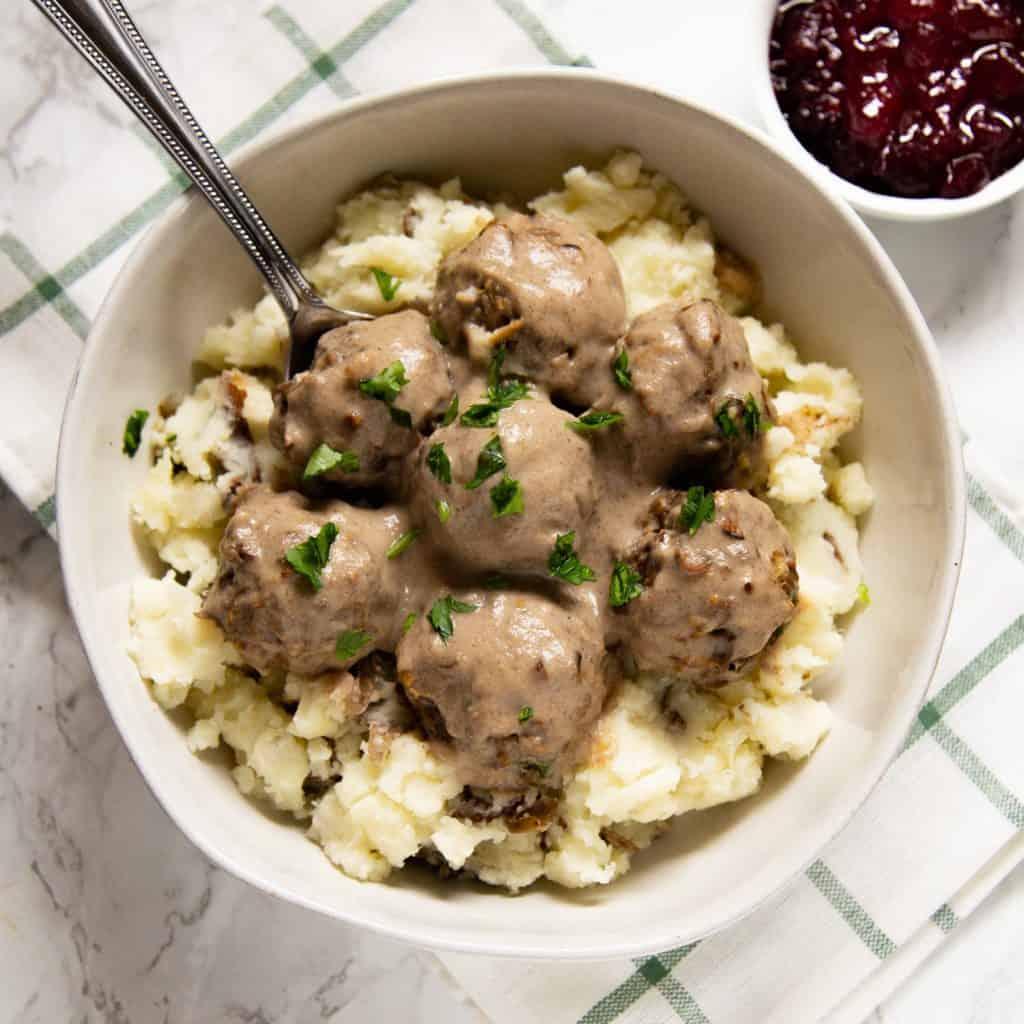 Vegetarian Swedish Meatballs