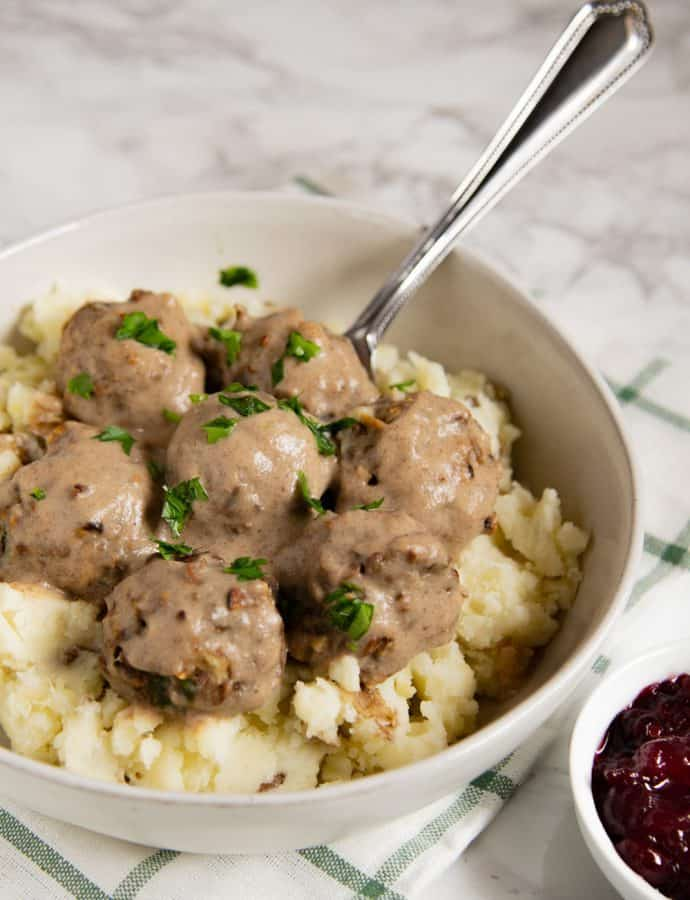 Vegetarian Swedish Meatballs