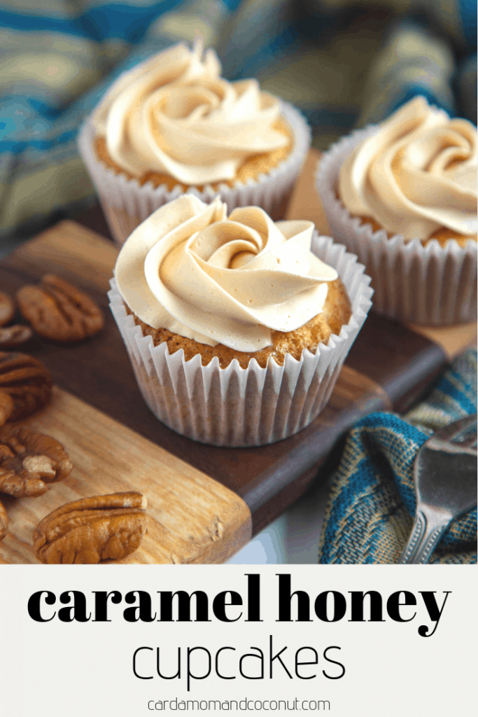 Caramel Honey Cupcakes