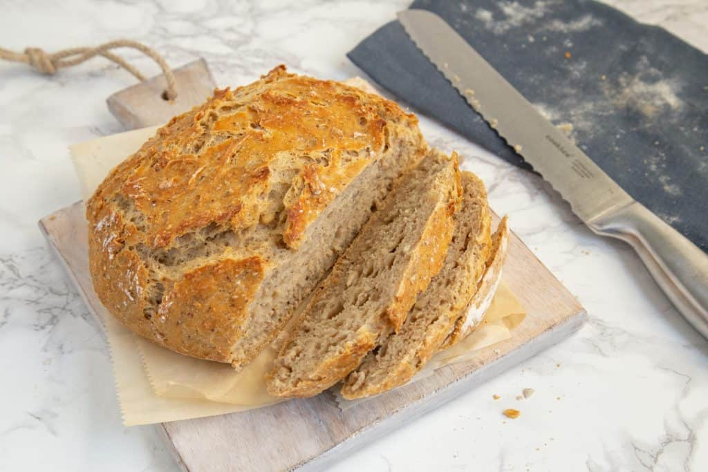 No-Knead Multigrain Bread