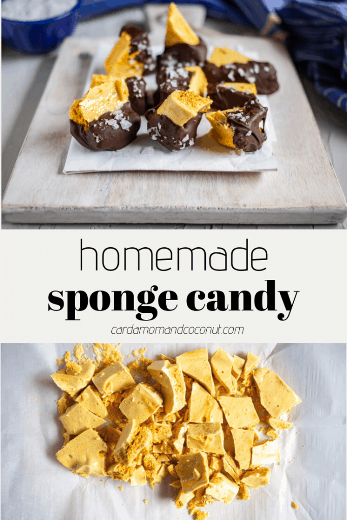 homemade honeycomb candy pinterest image